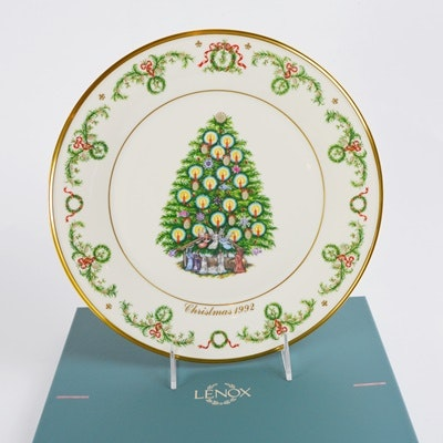 Lenox 1992 France Christmas Trees Around The World Collector Plate