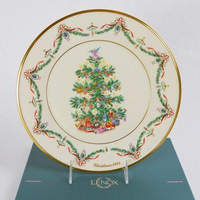 Lenox 1993 England Christmas Trees Around The World Collector Plate