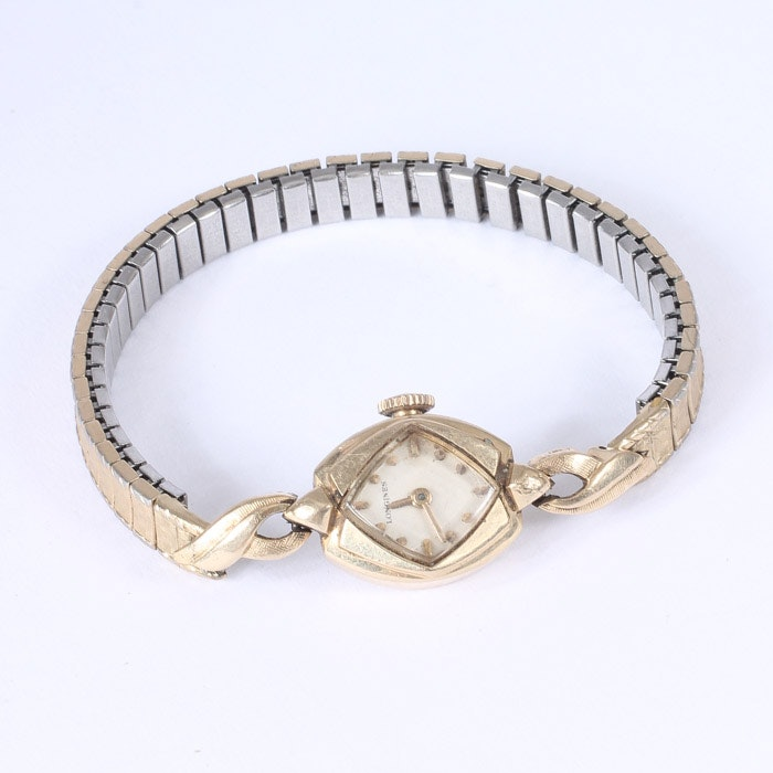 14K Gold Longines Watch on Gold-Filled Band