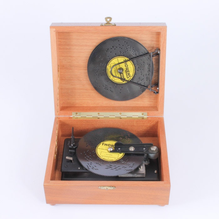 Vintage Thorens Music Box with Extra Music Discs