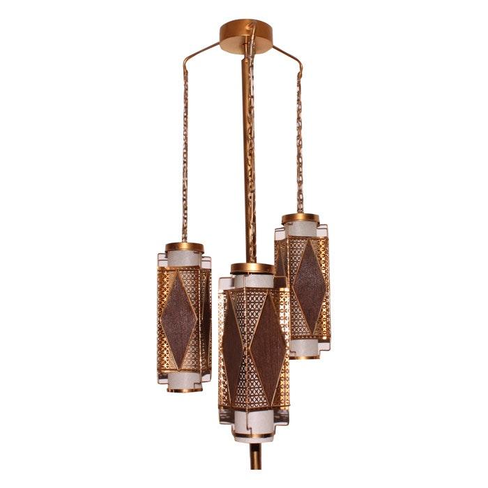 Vintage Mid-Century Tension Rod Floor Lamp