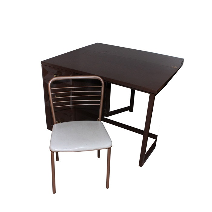 Mid-Century Drop Leaf Office Desk and Chair