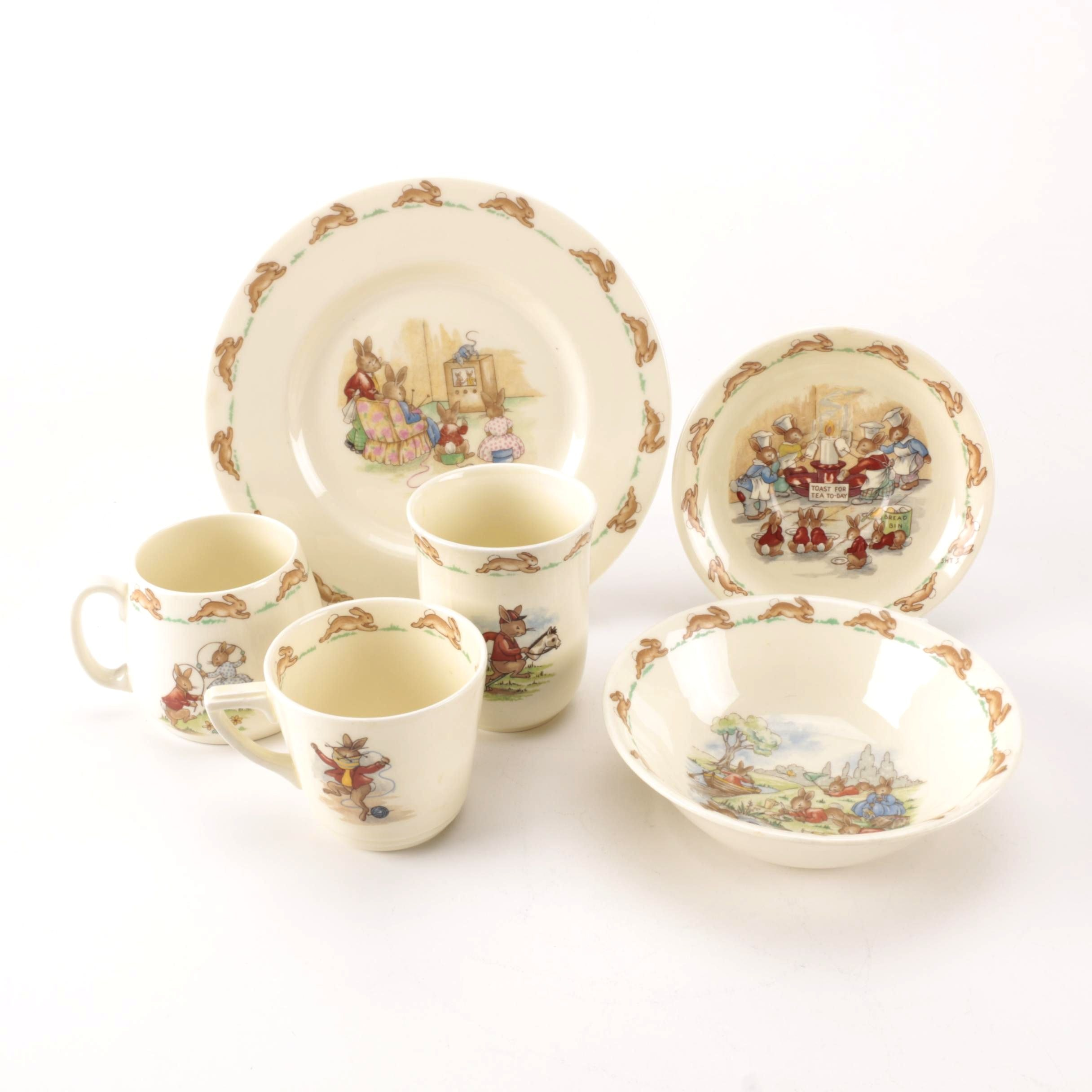 "Vintage Royal Doulton ""Bunnykins""  Children's Tableware"