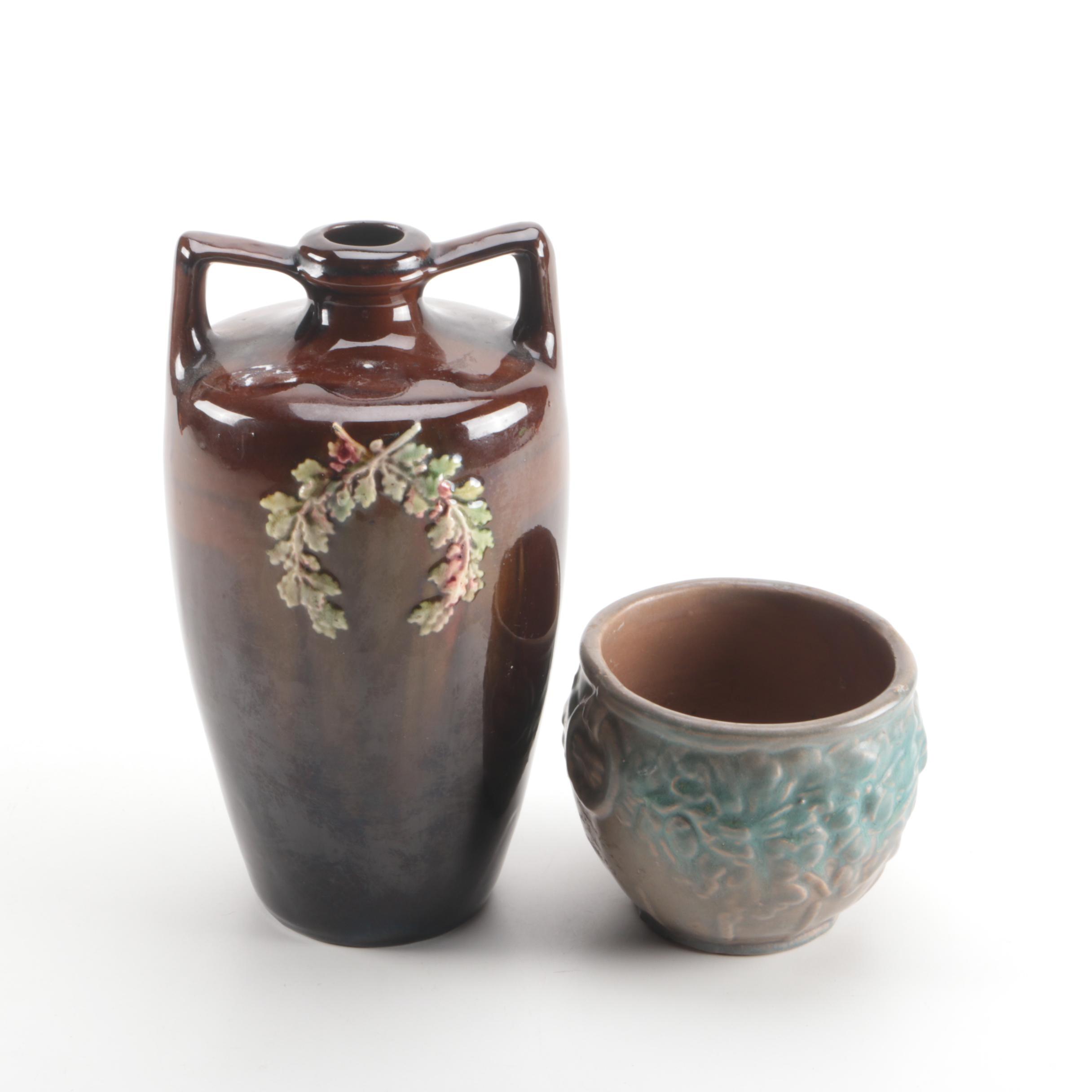 Vintage Pottery Vase and Pot