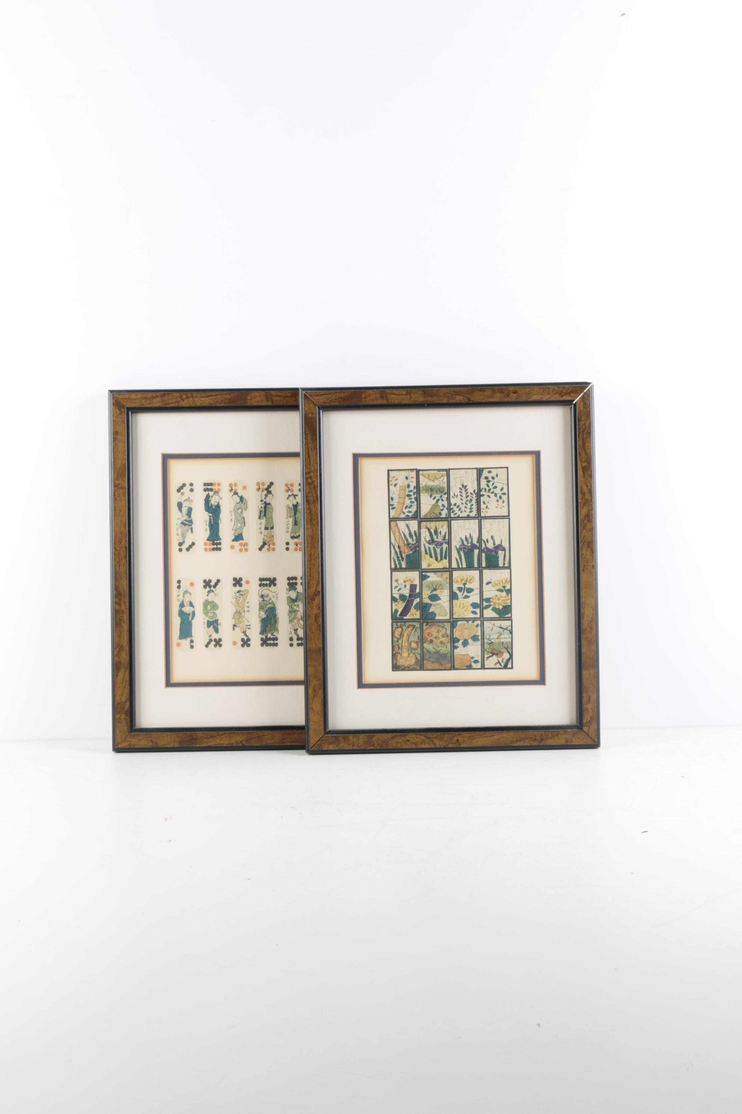 Two Framed East Asian Inspired Offset Lithographs