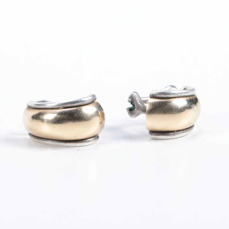 861a56155 James Avery Sterling Silver Earrings With 14K Gold Accents : EBTH