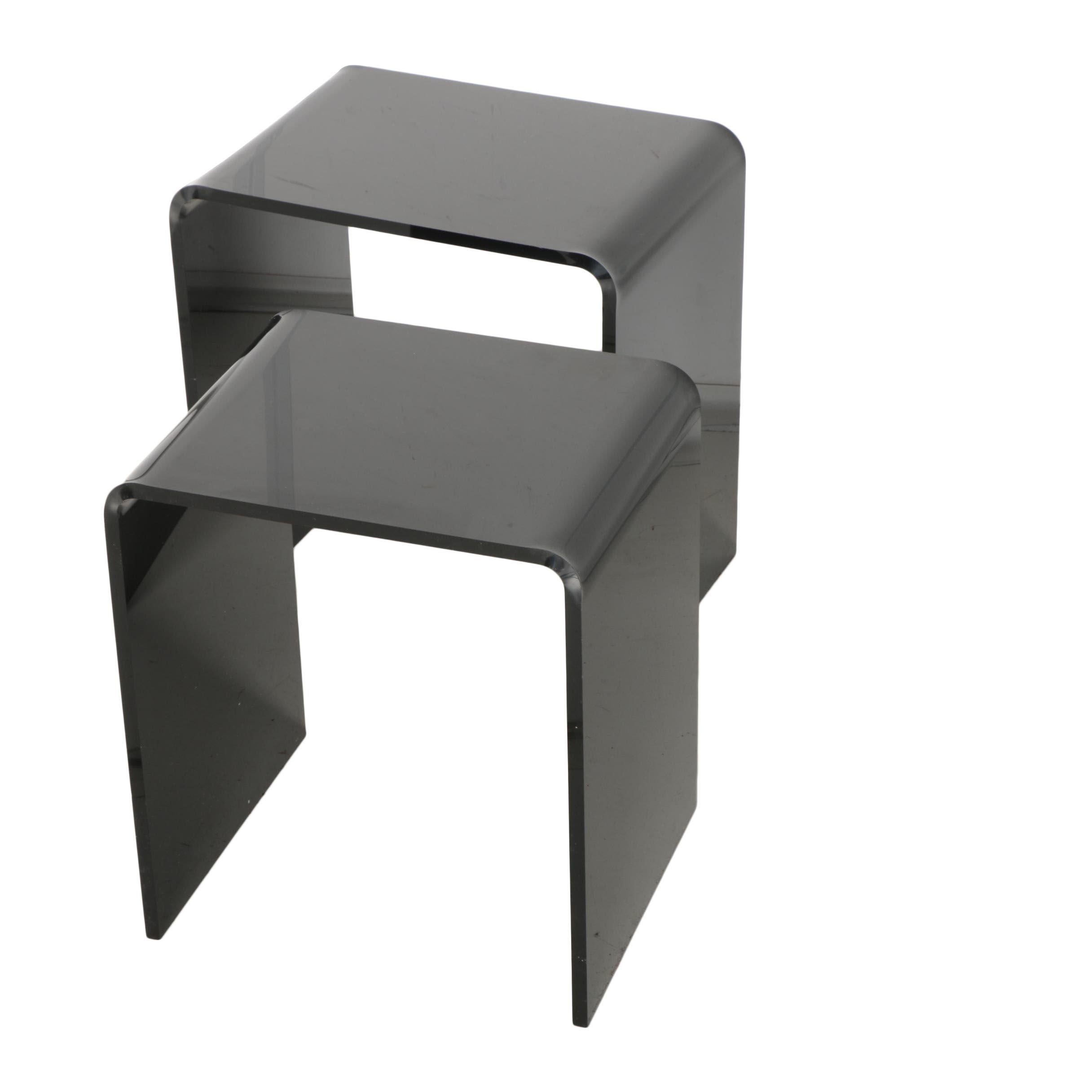 Modern Style Acrylic Nesting Tables