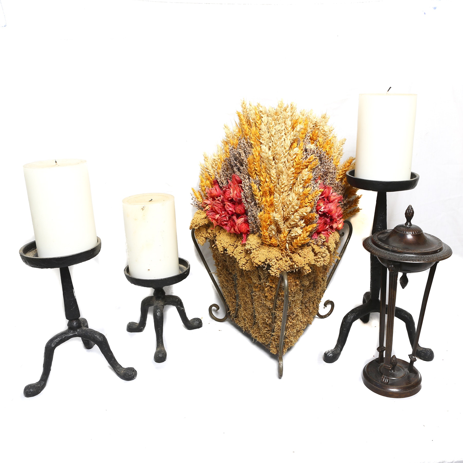 Collection of Candle Holders and Decor