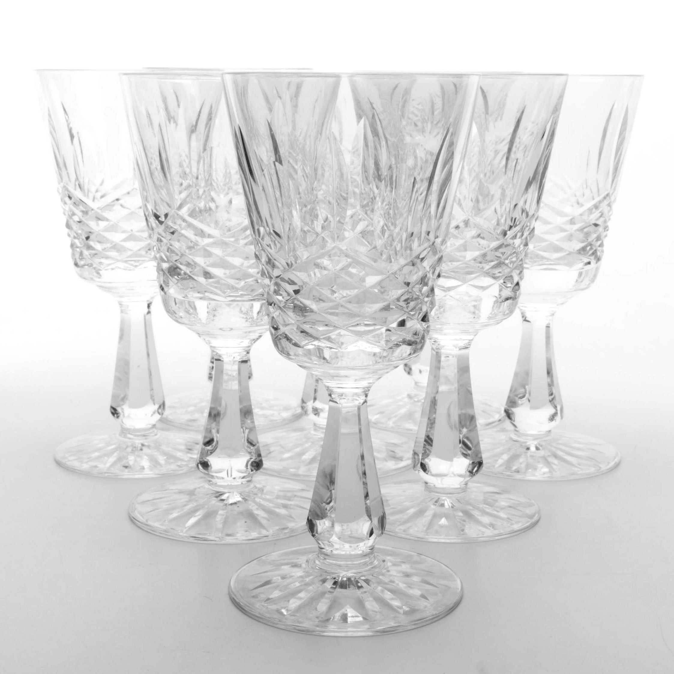 "Set of Waterford Crystal ""Kenmare"" Clarets"