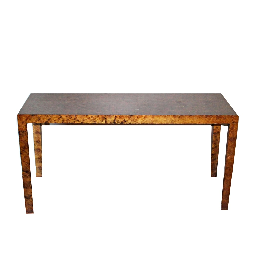 Faux Finish Console Table