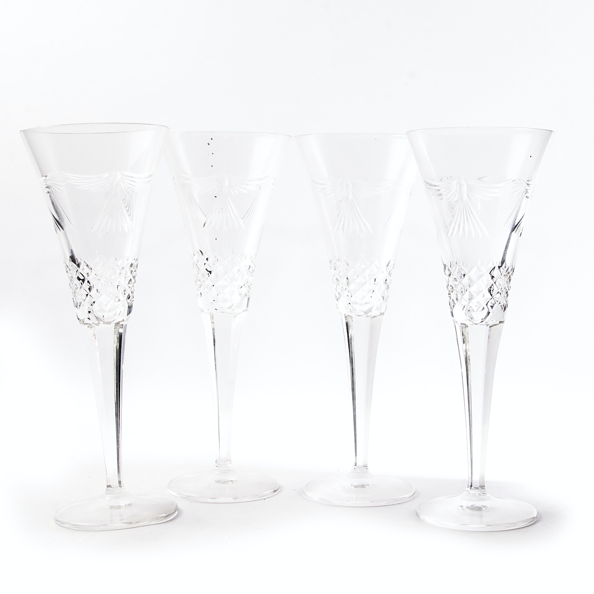 "Waterford Crystal ""Millennium: Happiness"" Toasting Flutes"