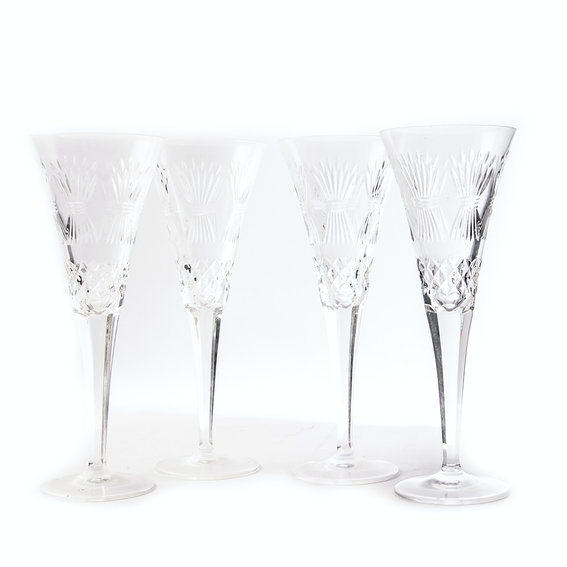 "Waterford Crystal ""Millennium Series: Prosperity"" Toasting Flutes"