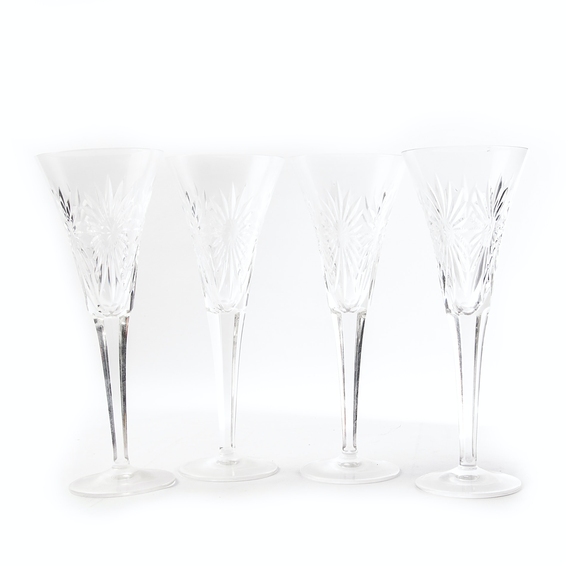 "Waterford Crystal ""Millennium Series: Health"" Toasting Flutes"