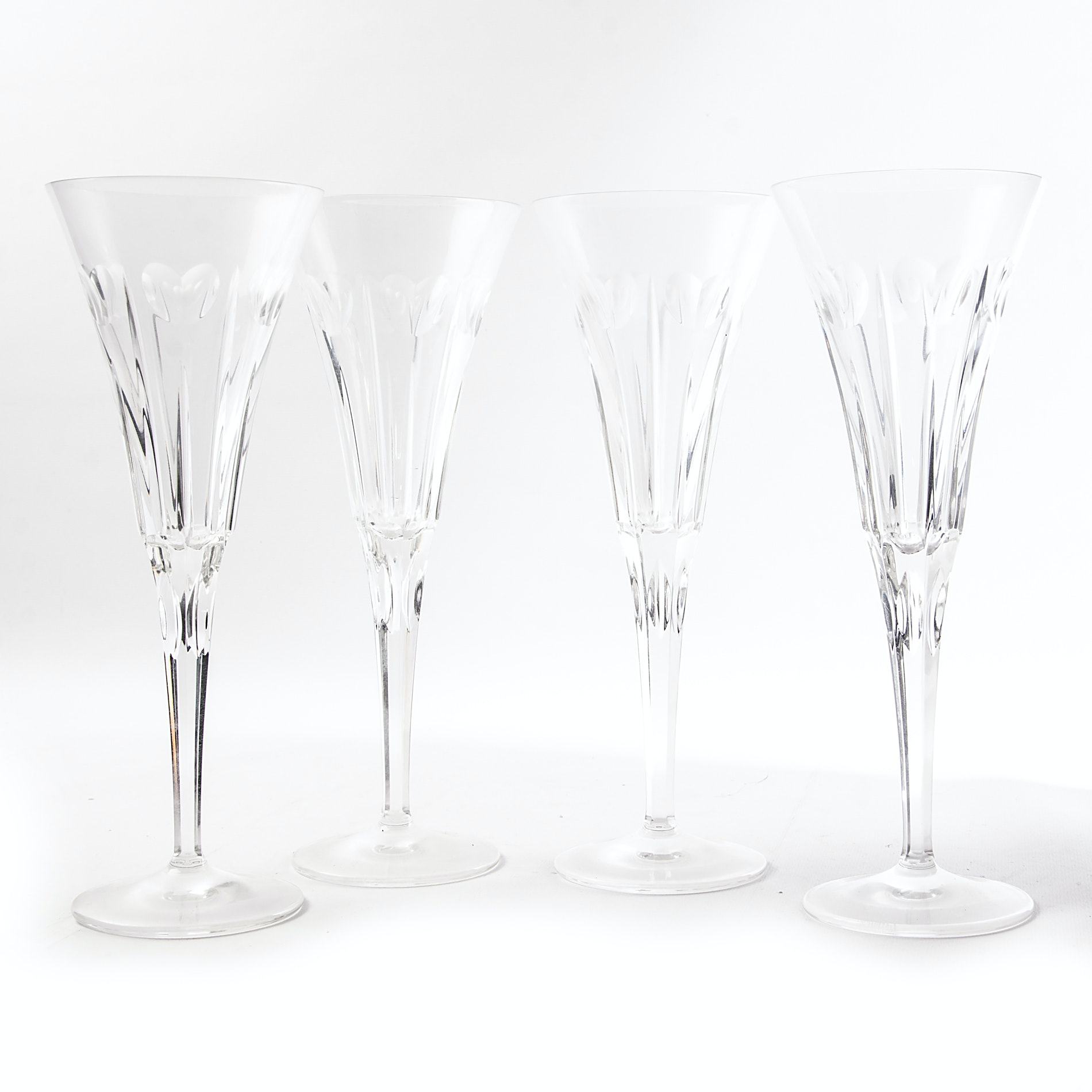 "Waterford Crystal ""Love"" Millennium Toasting Flutes"
