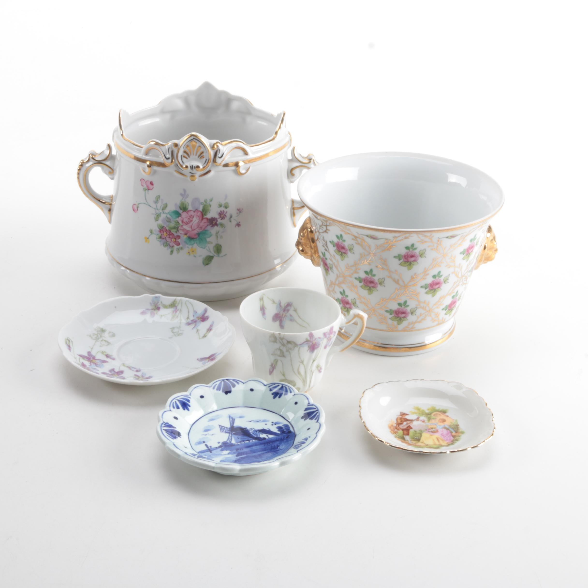 Floral Porcelain Tableware Featuring Theodore Haviland