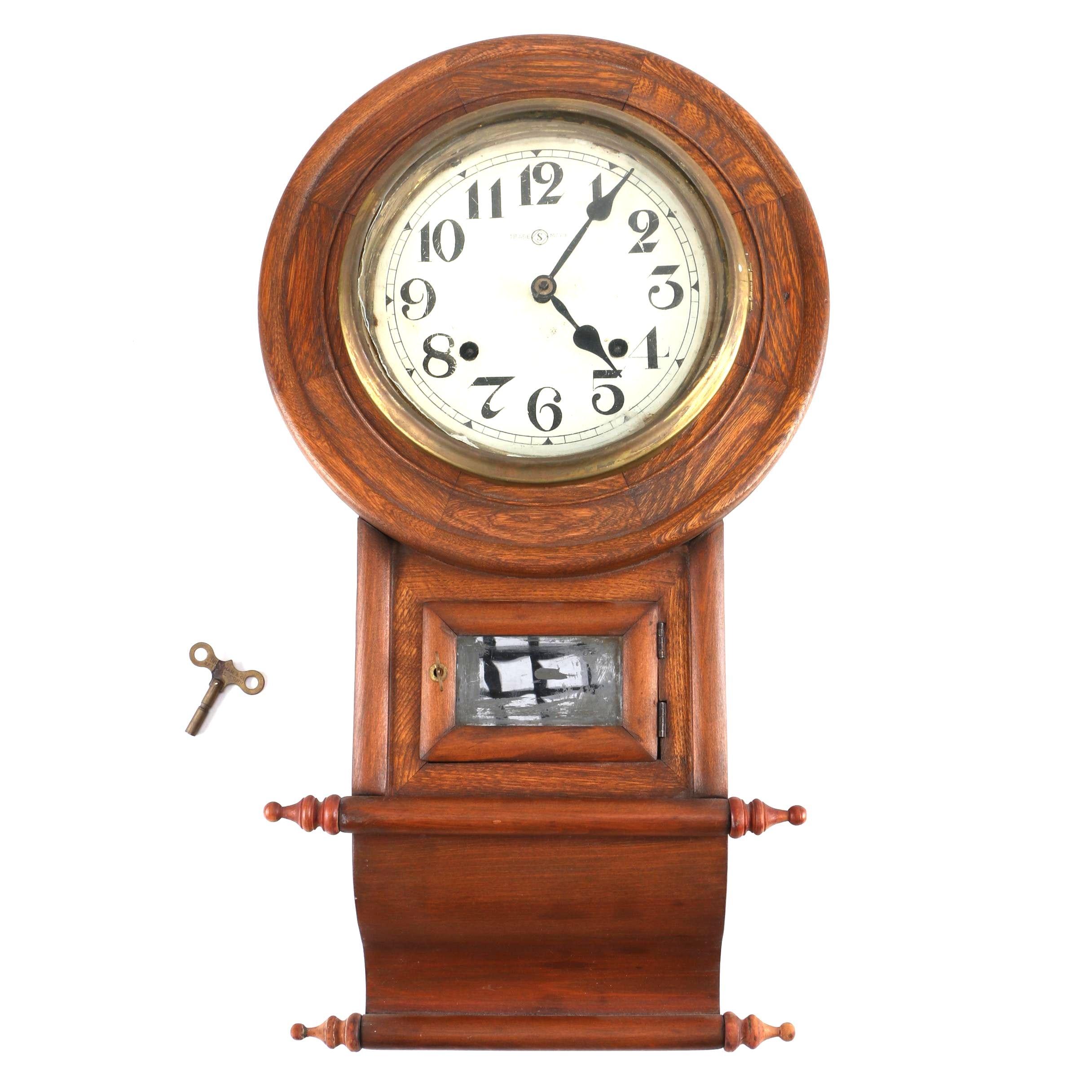 Vintage Oak Wall Clock