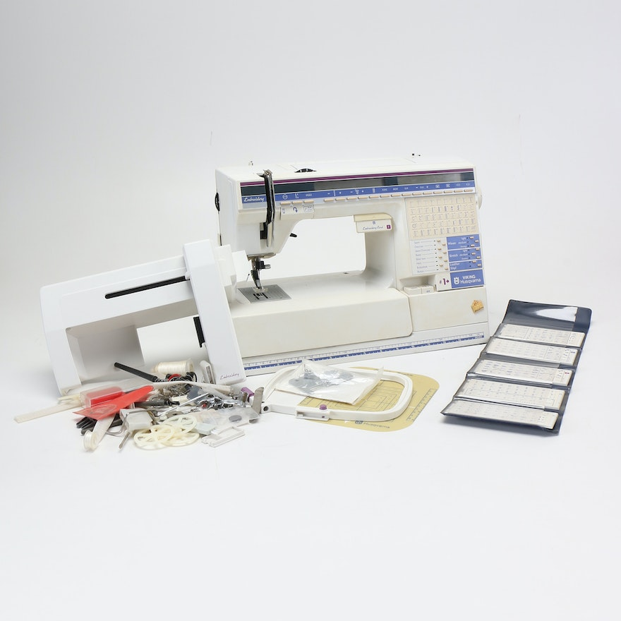 Husqvarna Embroidery Sewing Machine and Accessories