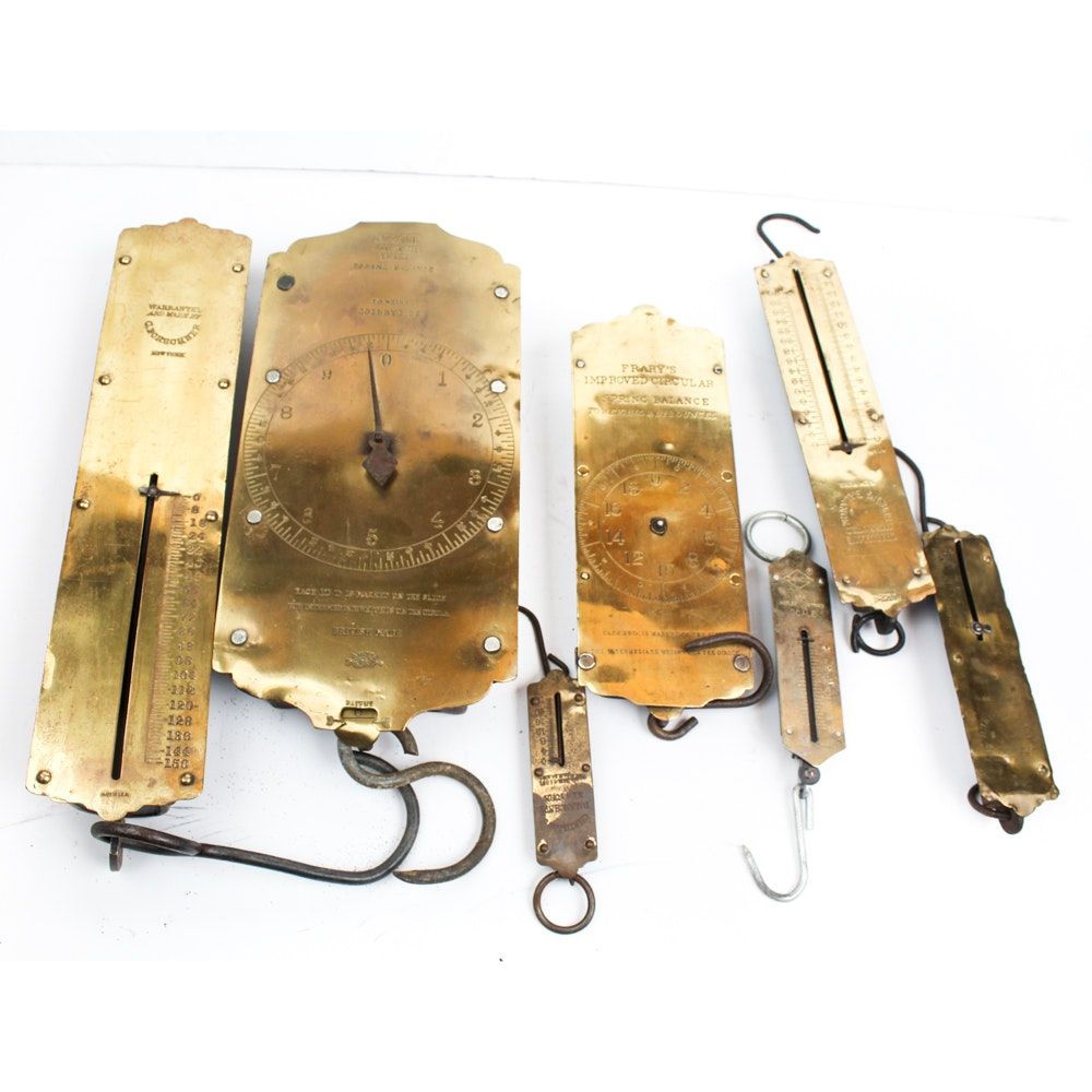 Vintage Brass Hanging Scales