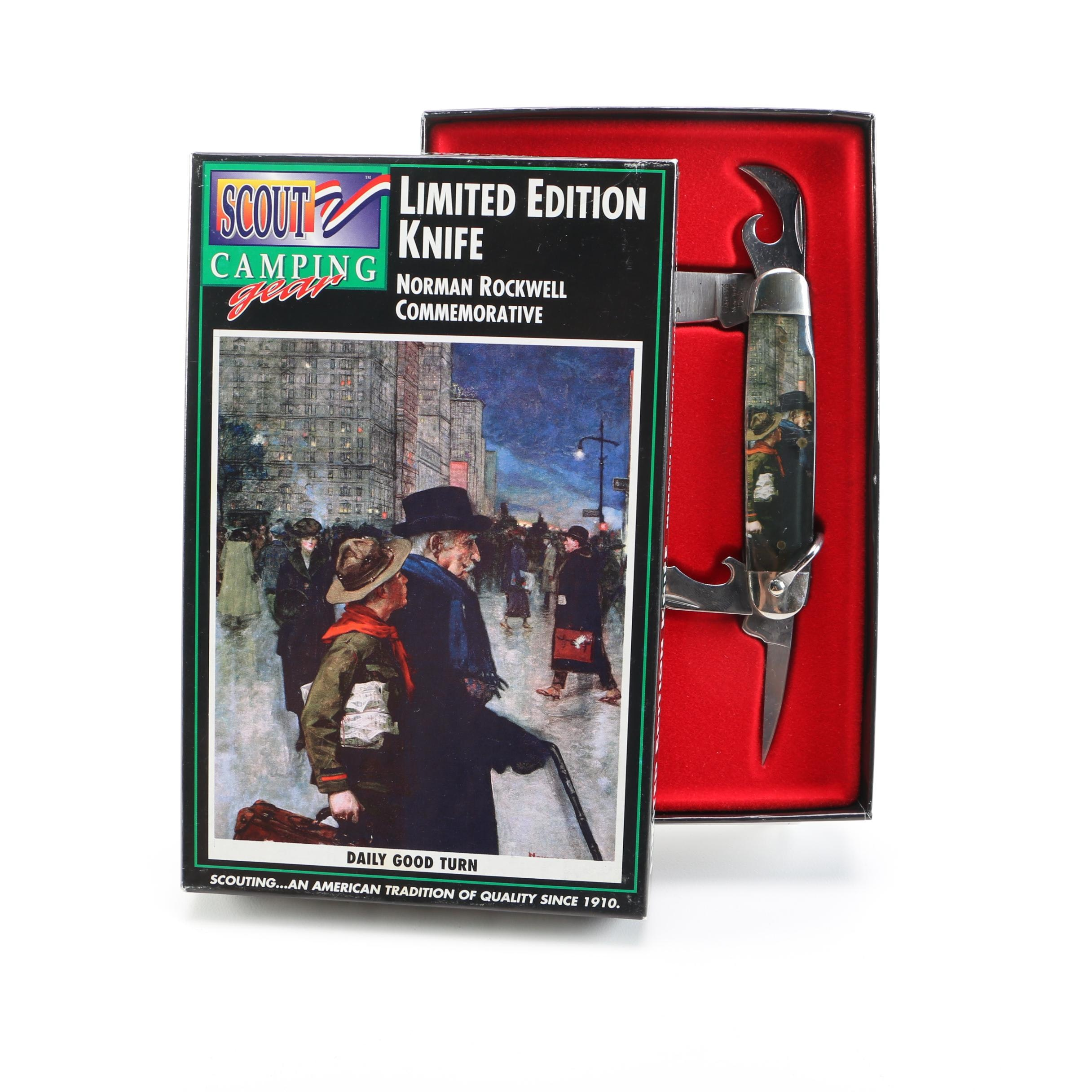 """Boy Scouts of America """"Daily Good Turn"""" Limited Edition Norman Rockwell Pocket Knife"""