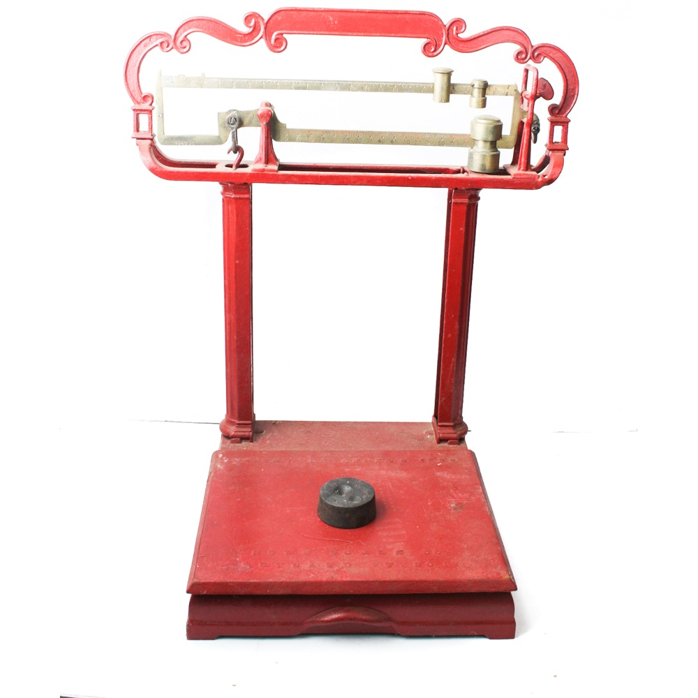 Antique Cast Iron Howe Grocer Scale