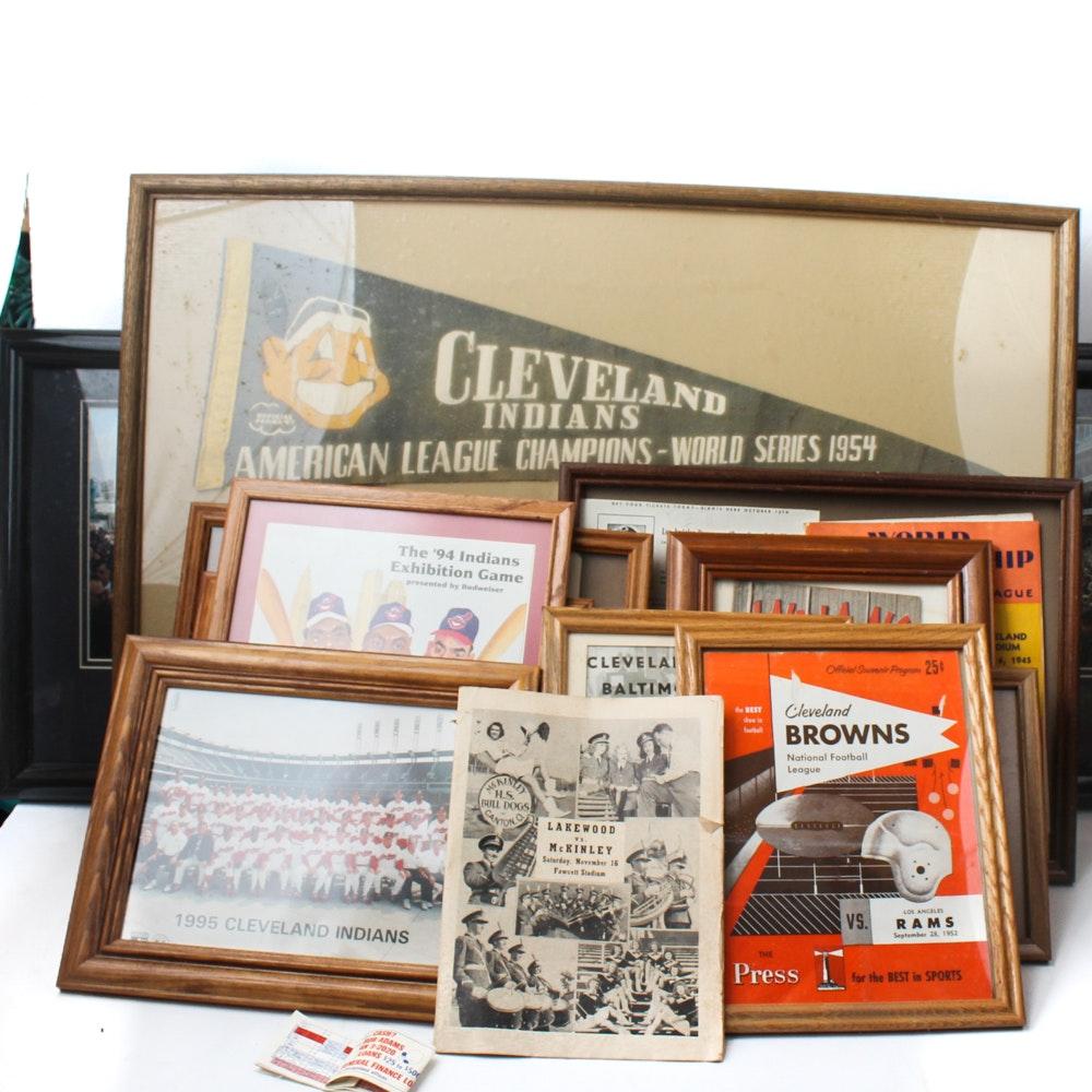 Vintage Ohio Sports Memorabilia