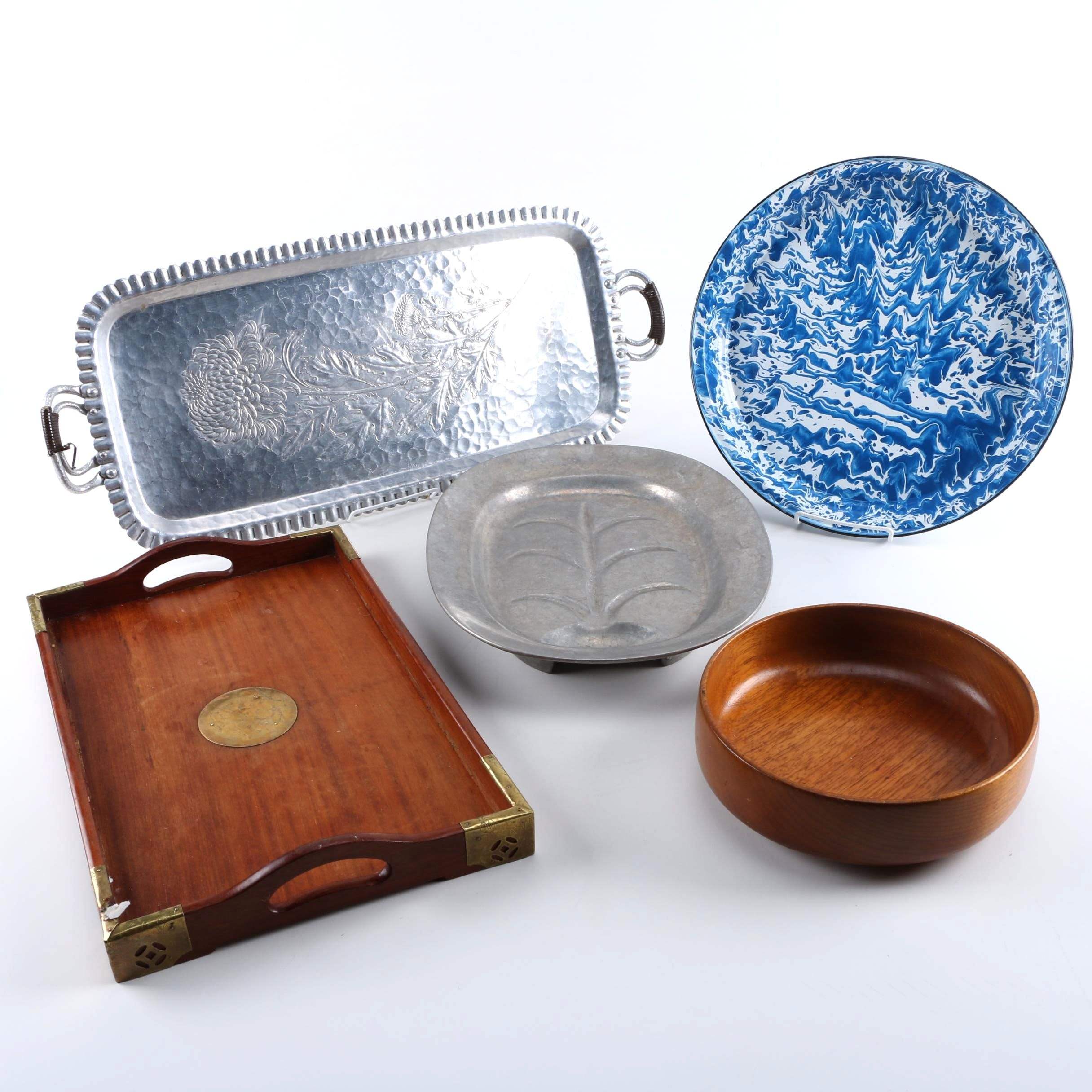 Metal and Wood Servingware