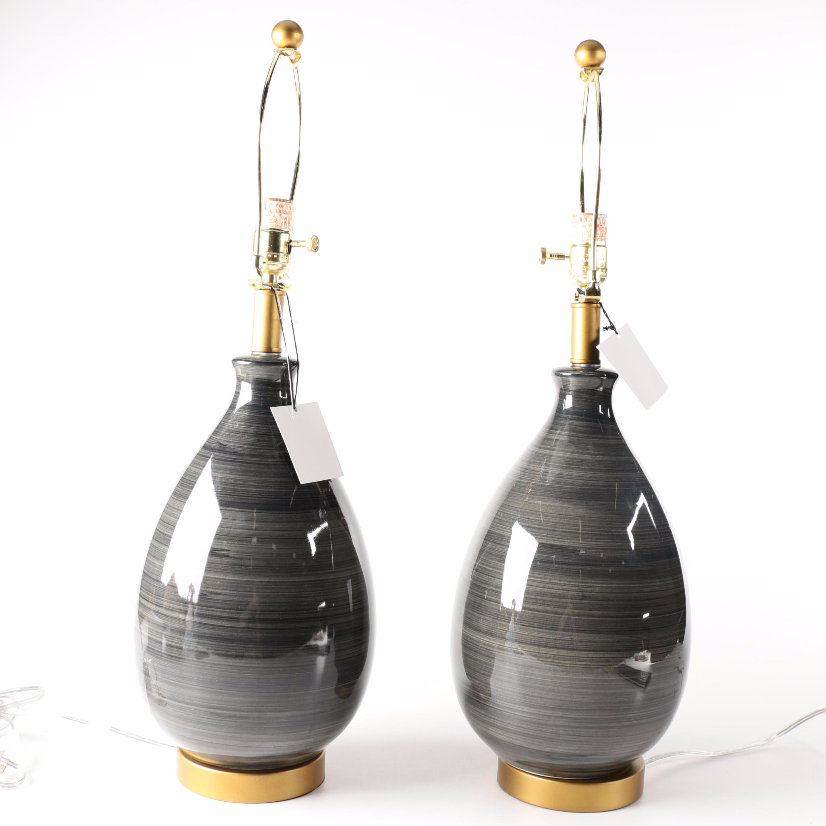 Destinations By Regina Andrew Ceramic Gray Lamps ...
