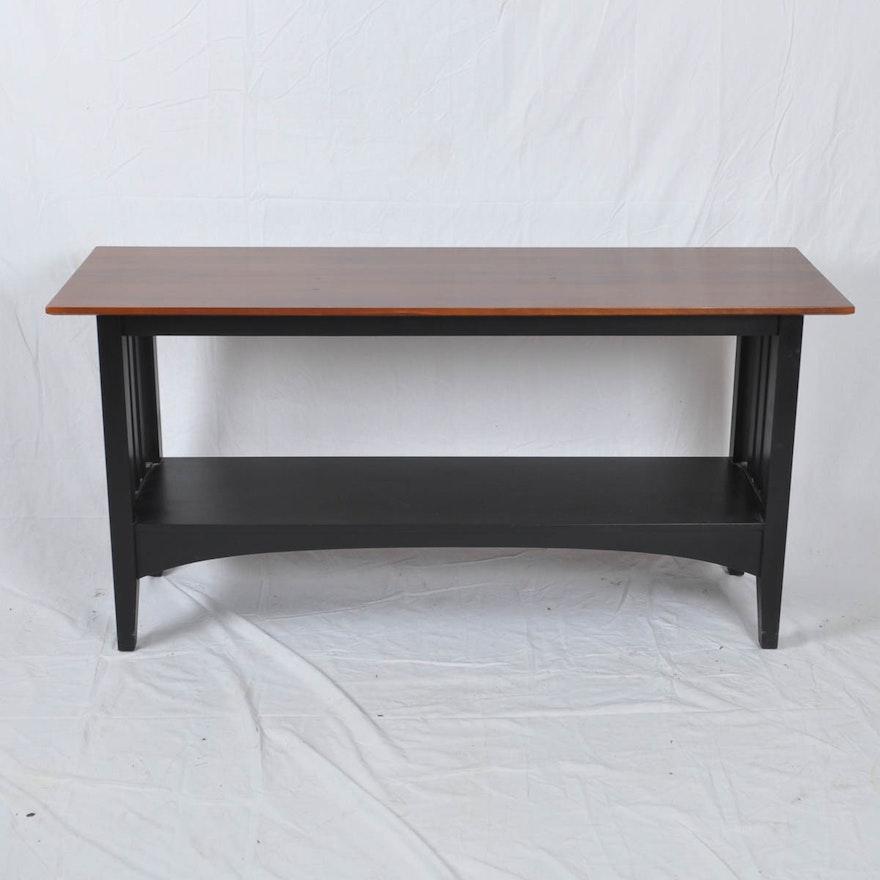 "Black Coffee Table Ethan Allen: Ethan Allen ""American Impressions"" Sofa Table : EBTH"