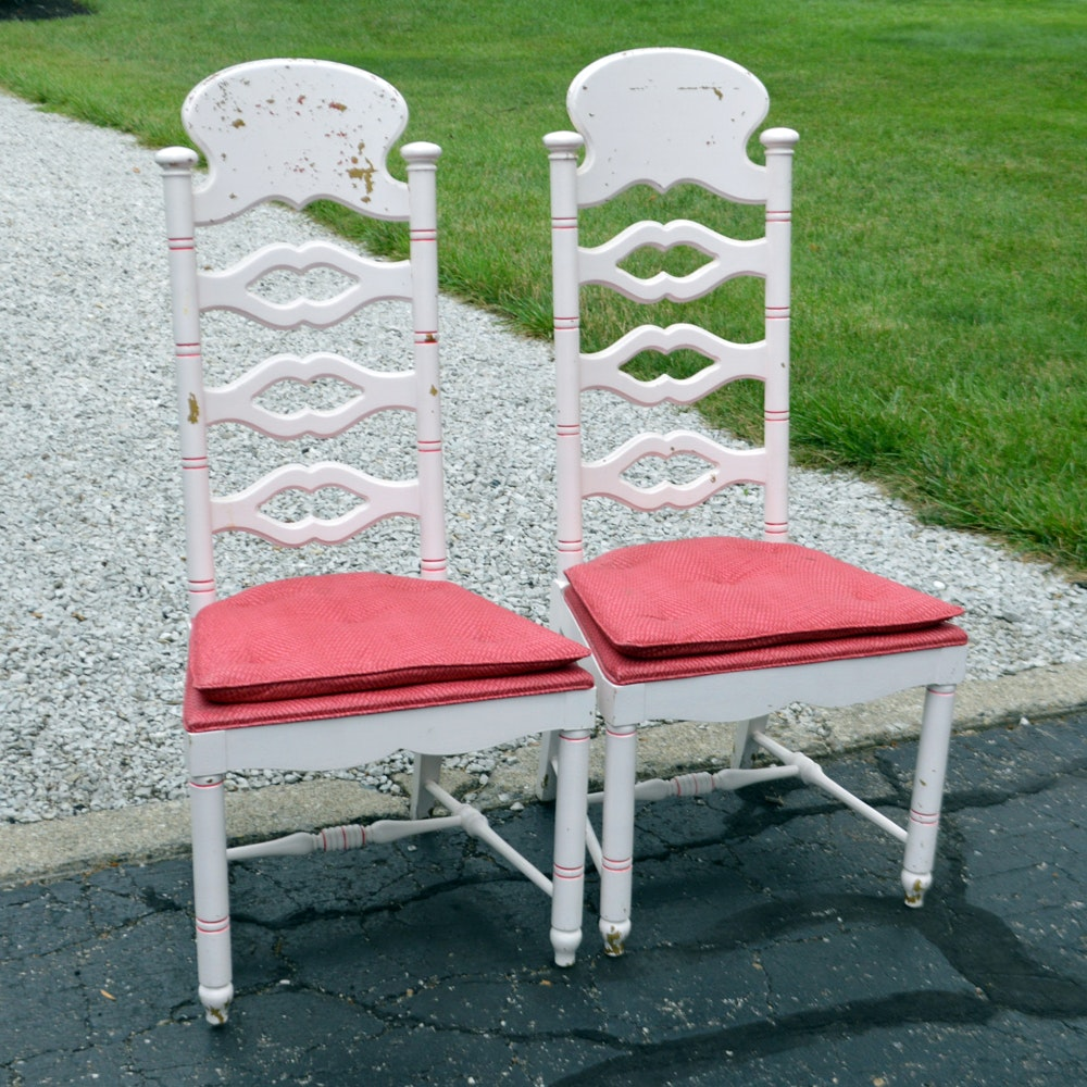 Vintage High Back Dining Chairs