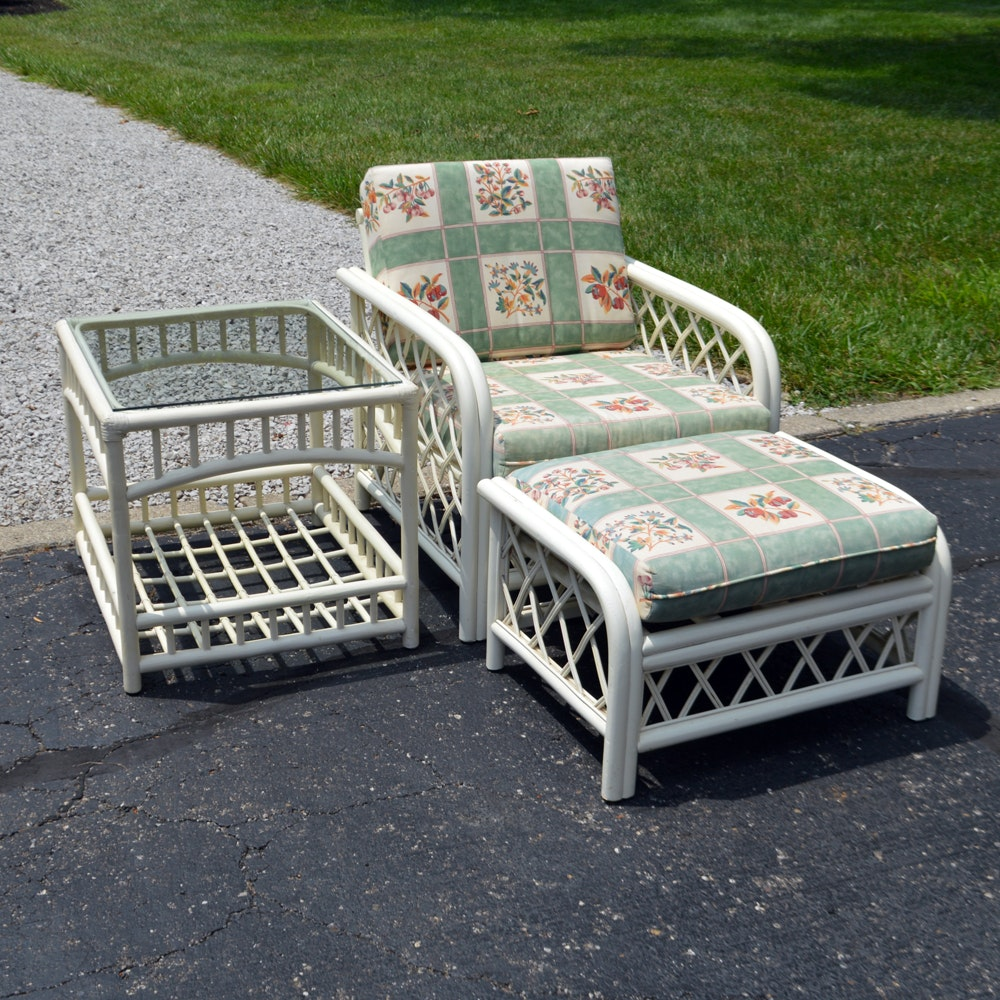 Classic Rattan Patio Chair Set