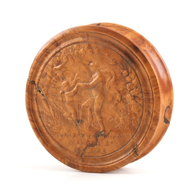 Early 19th Century French Pressed Fruitwood Snuff Box