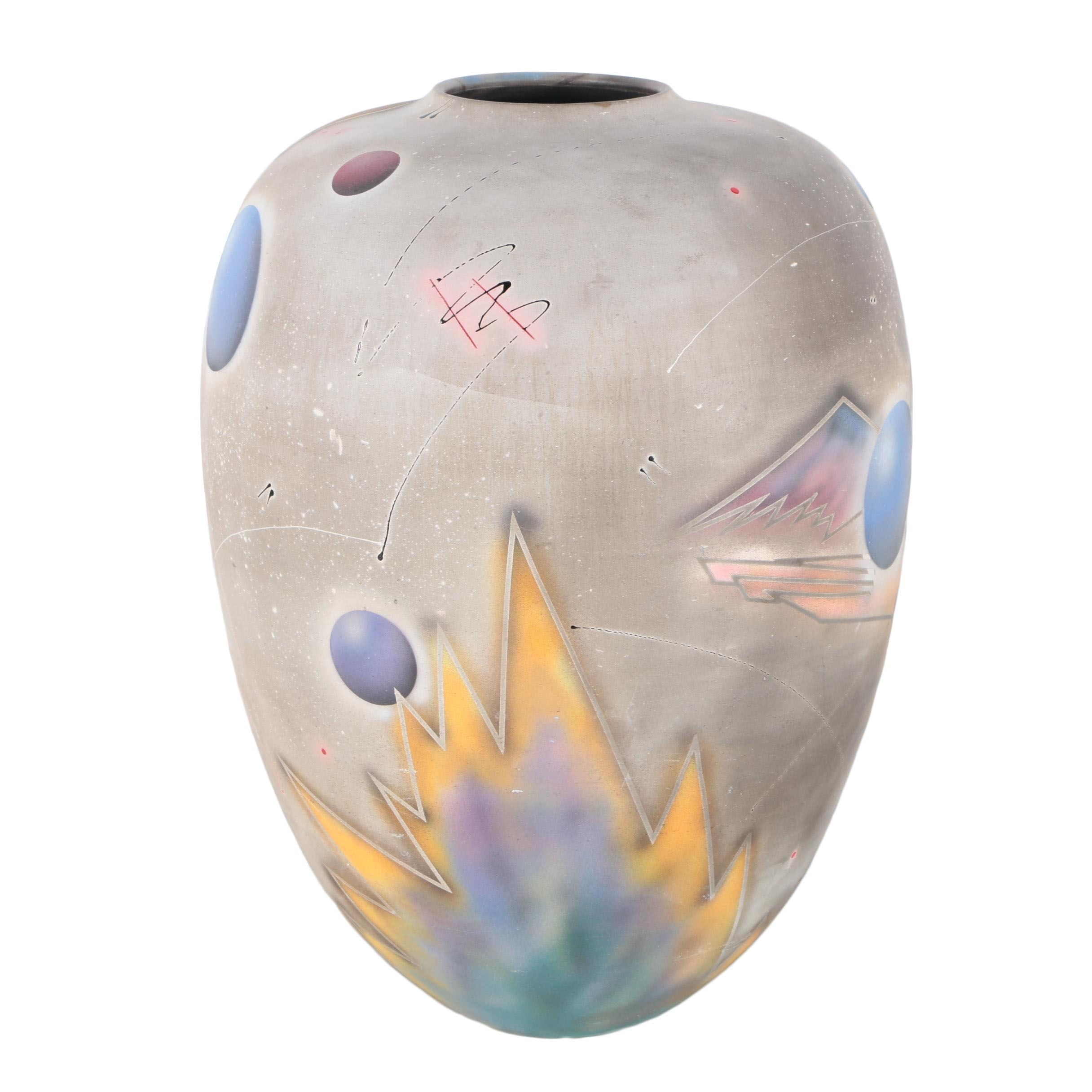 Signed Contemporary Art Pottery Vessel