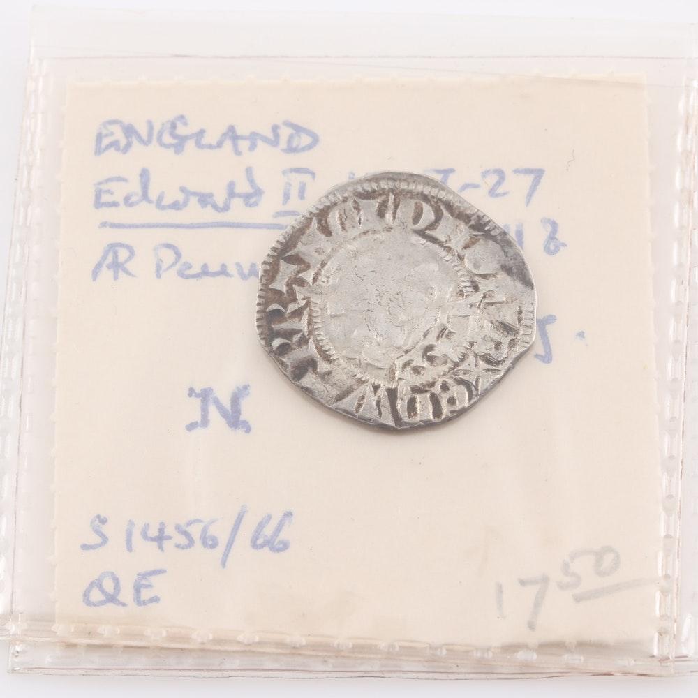 Edward II Medieval English Silver Penny