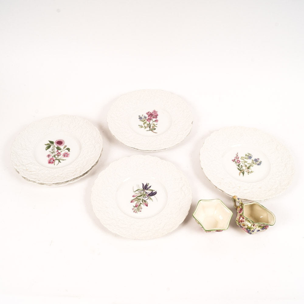 Collection of English Fine China Plates and Chintz Ware