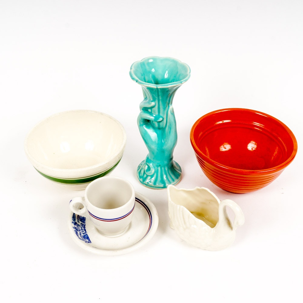 American Pottery Including Lenox