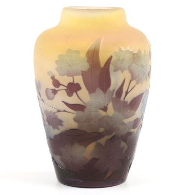 Circa 1900 Emile Gallé (French 1846-1904) Art Nouveau Cameo Vase