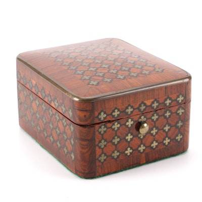 French Marquetry Jewelry Box