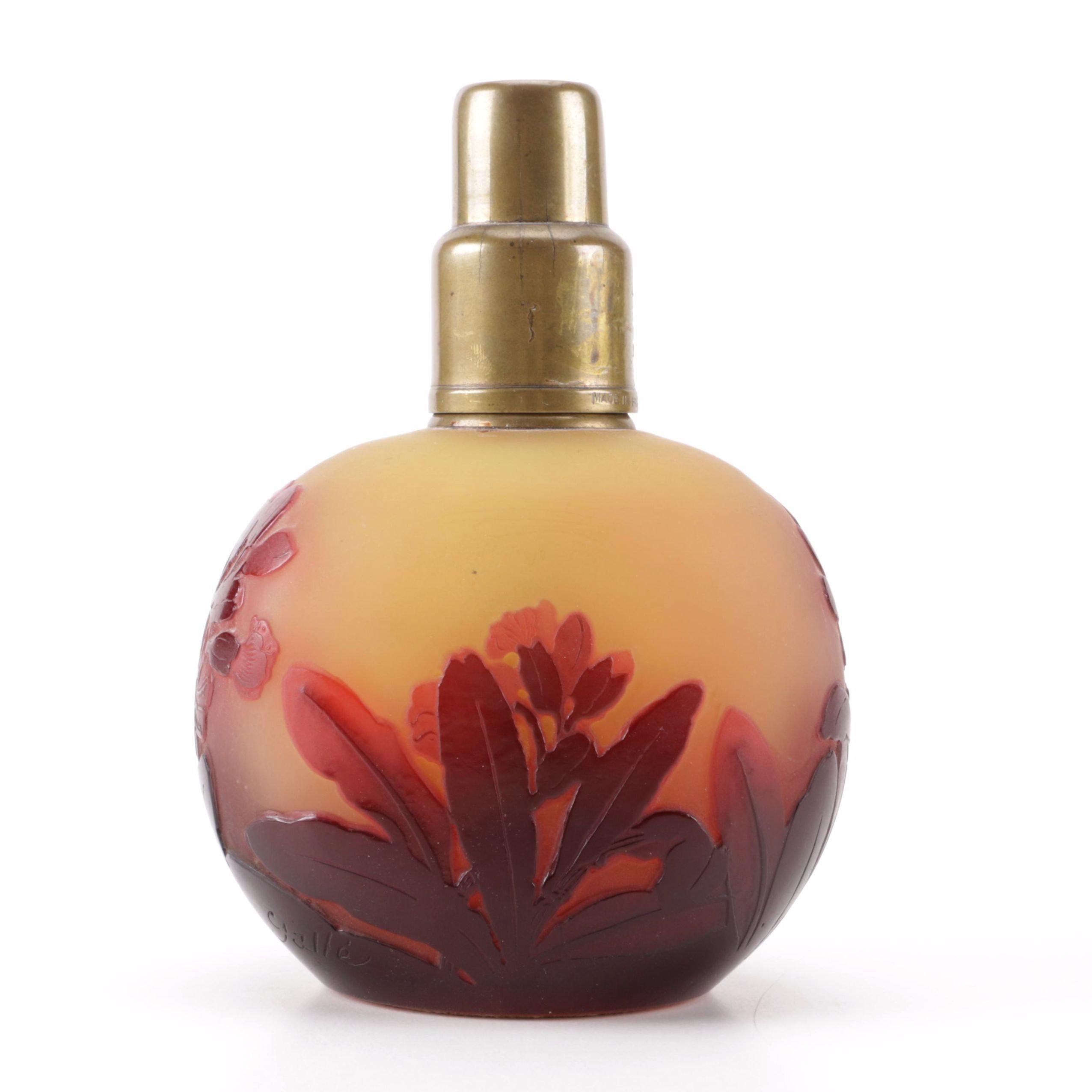 Gallé Cameo Glass Perfume Incense Burner