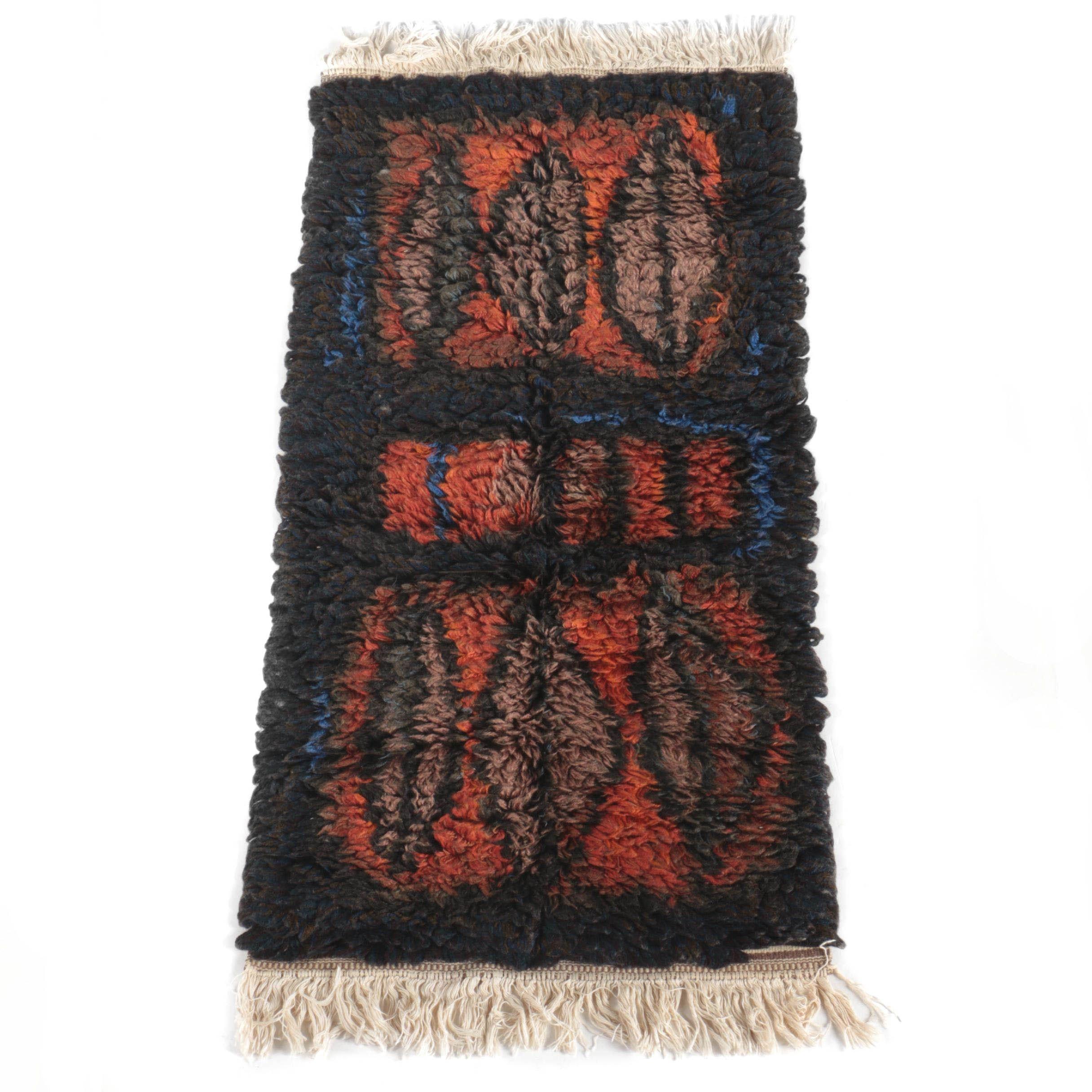 Hand Hooked Canadian Doukhobor Butterfly Carpet Runner