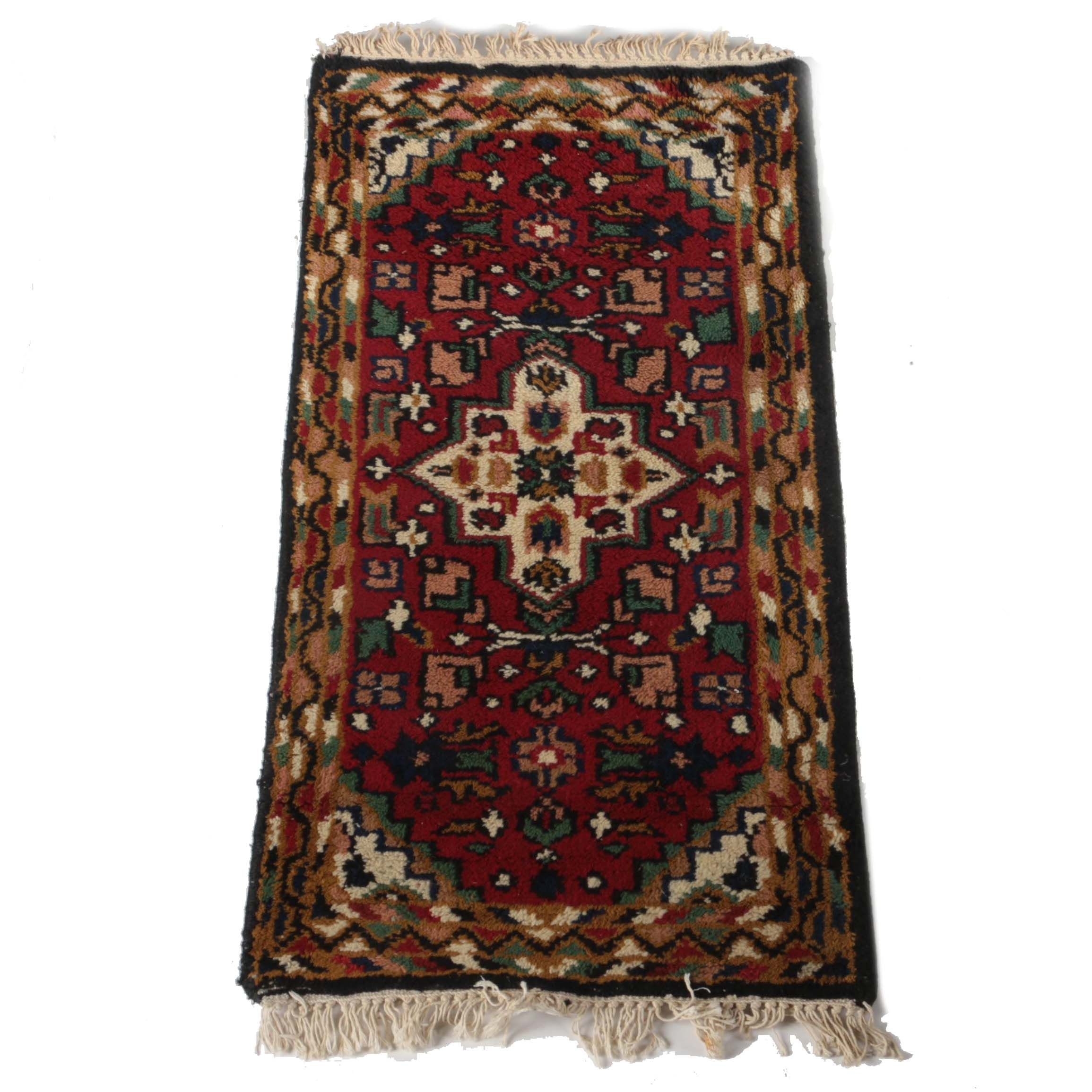 Hand-Knotted Heriz Style Accent Rug