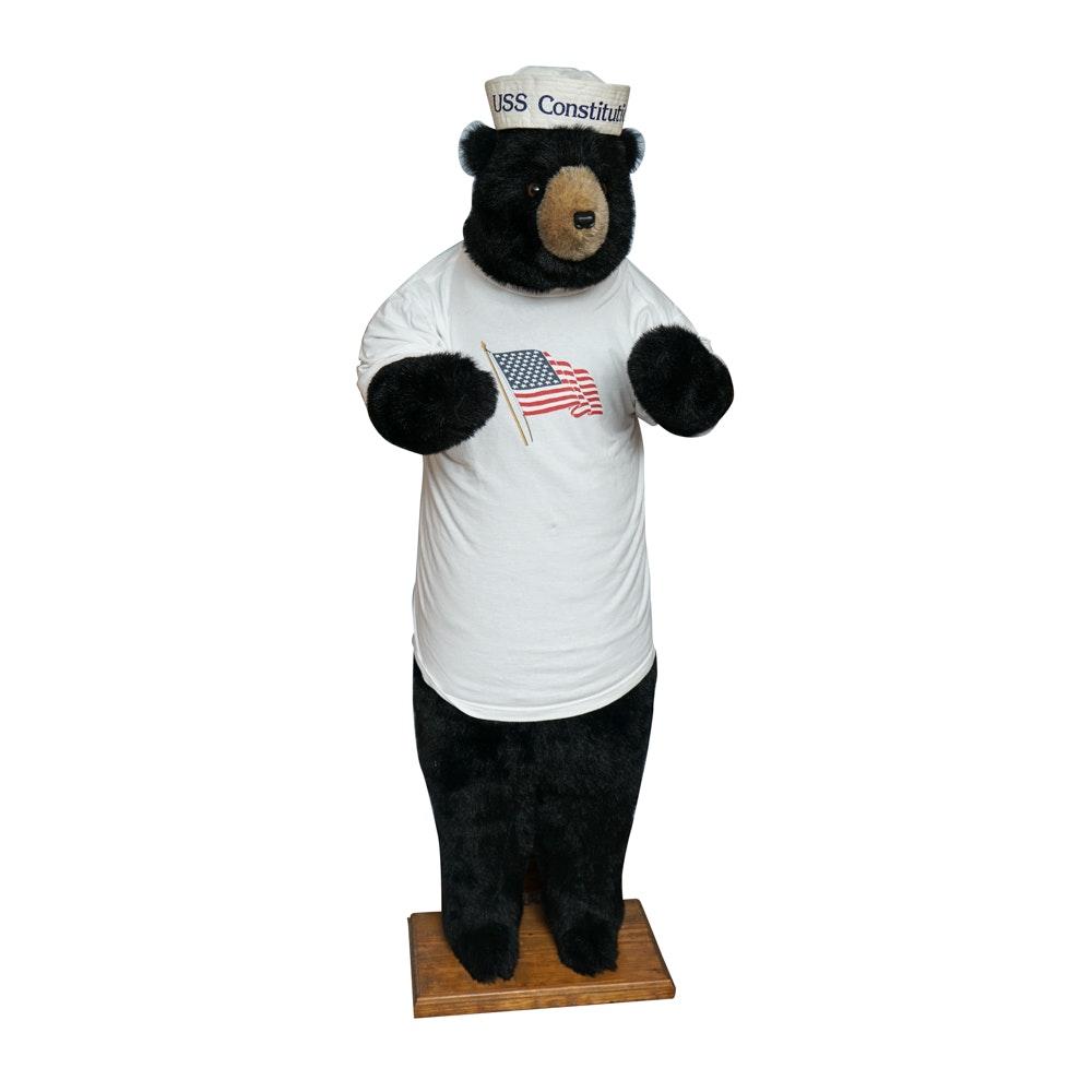 Hen House Life Size Standing Plush Black Bear Ebth