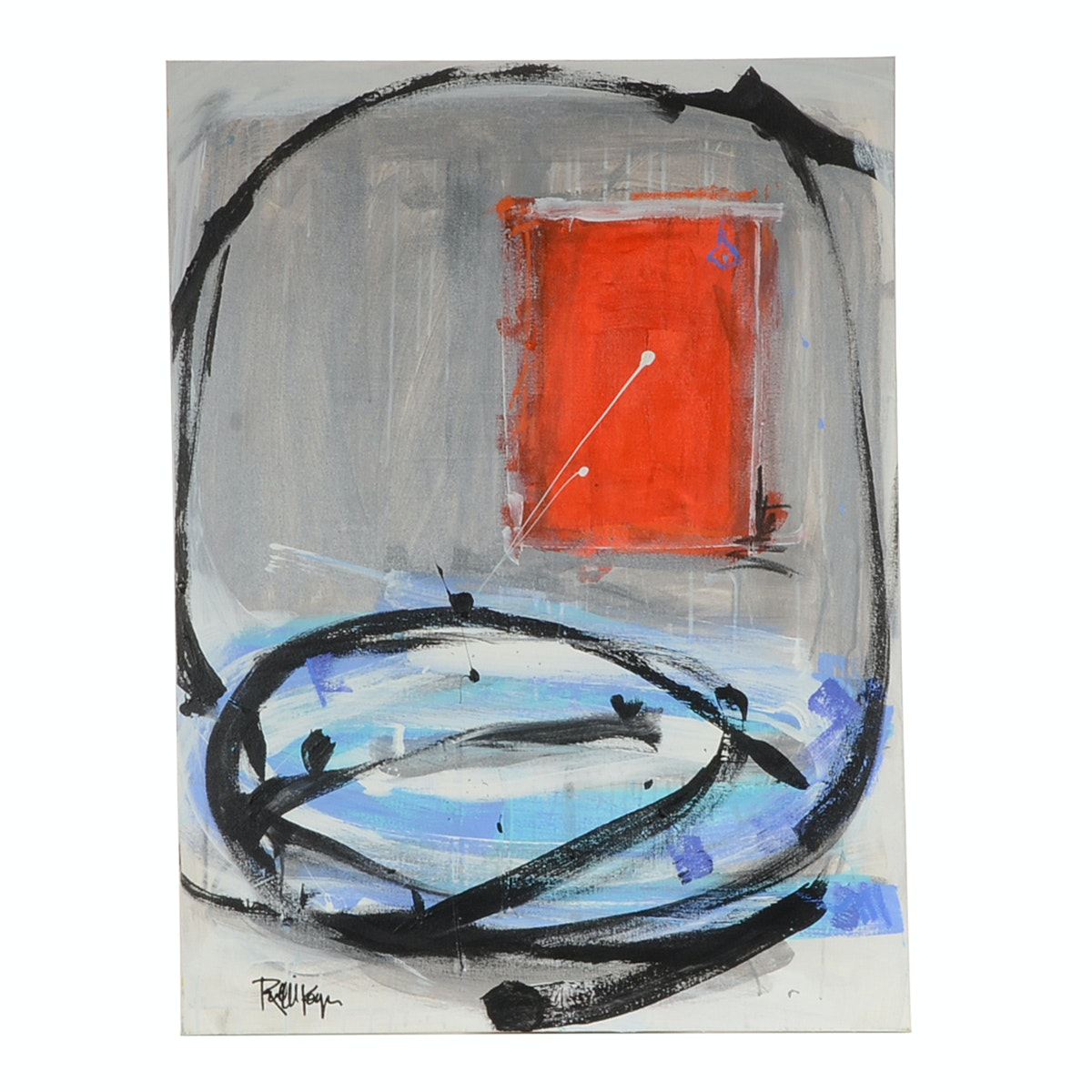 Robbie Kemper Original Abstract Acrylic Painting on Canvas