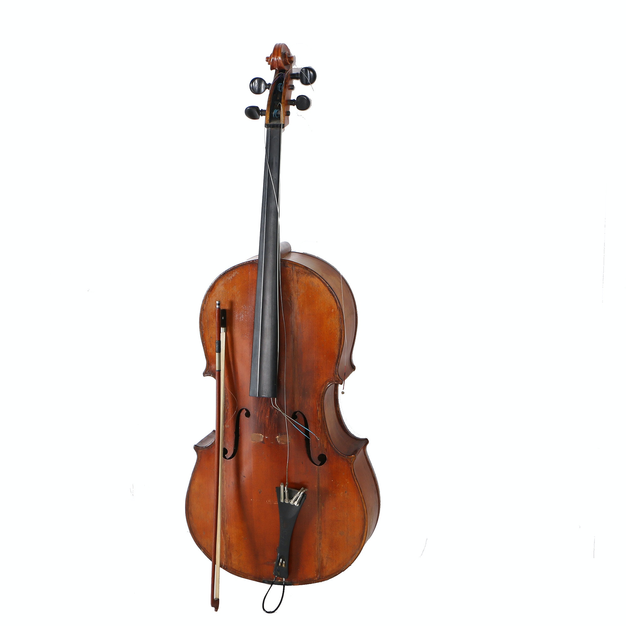 Cello With Bow and Case