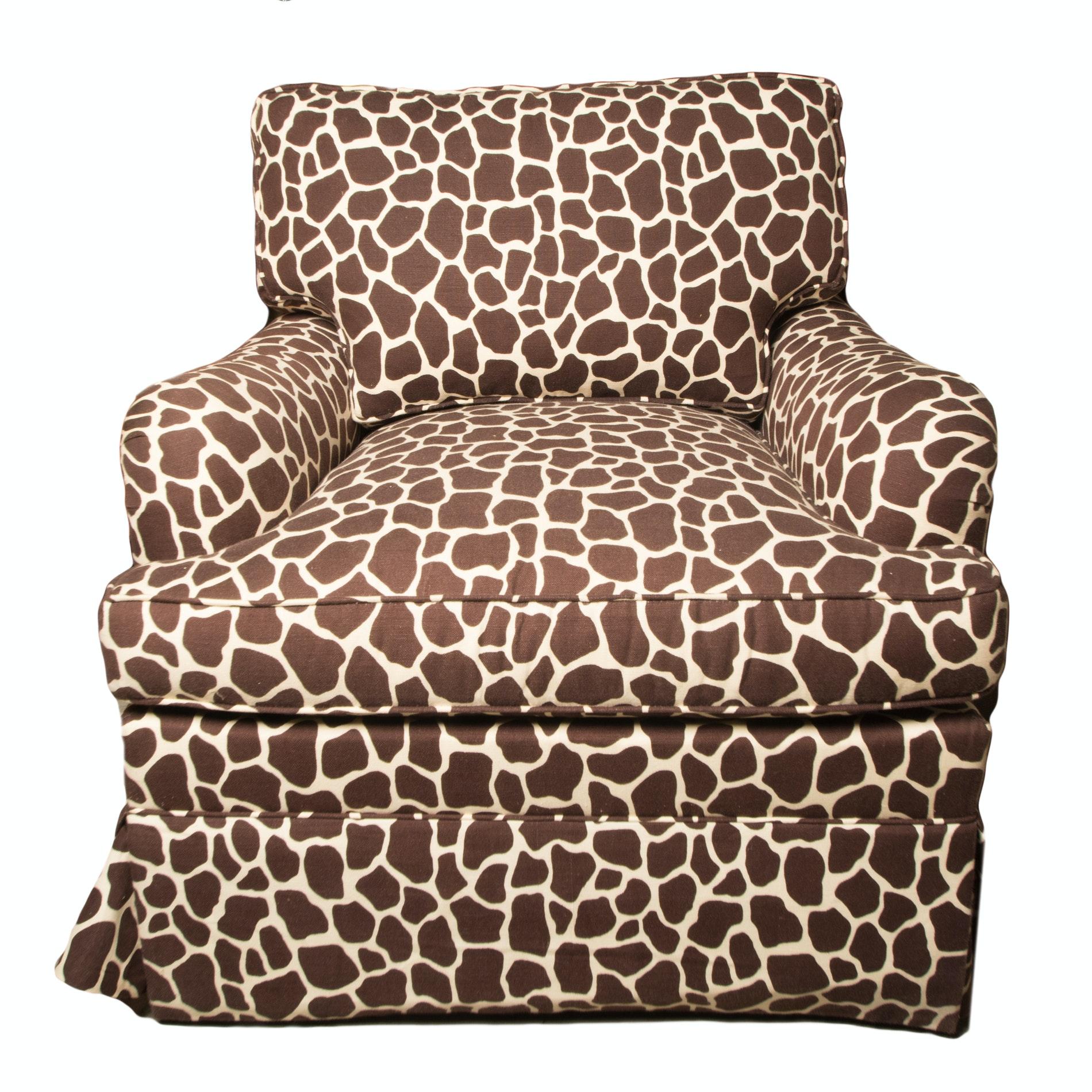 Giraffe Print Armchair by The Charles Stewart Company