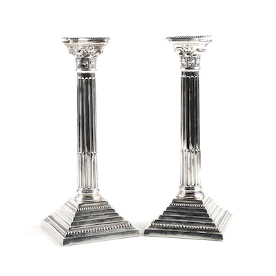 Pair of Bert Gordon Weighted Sterling Silver Candleholders