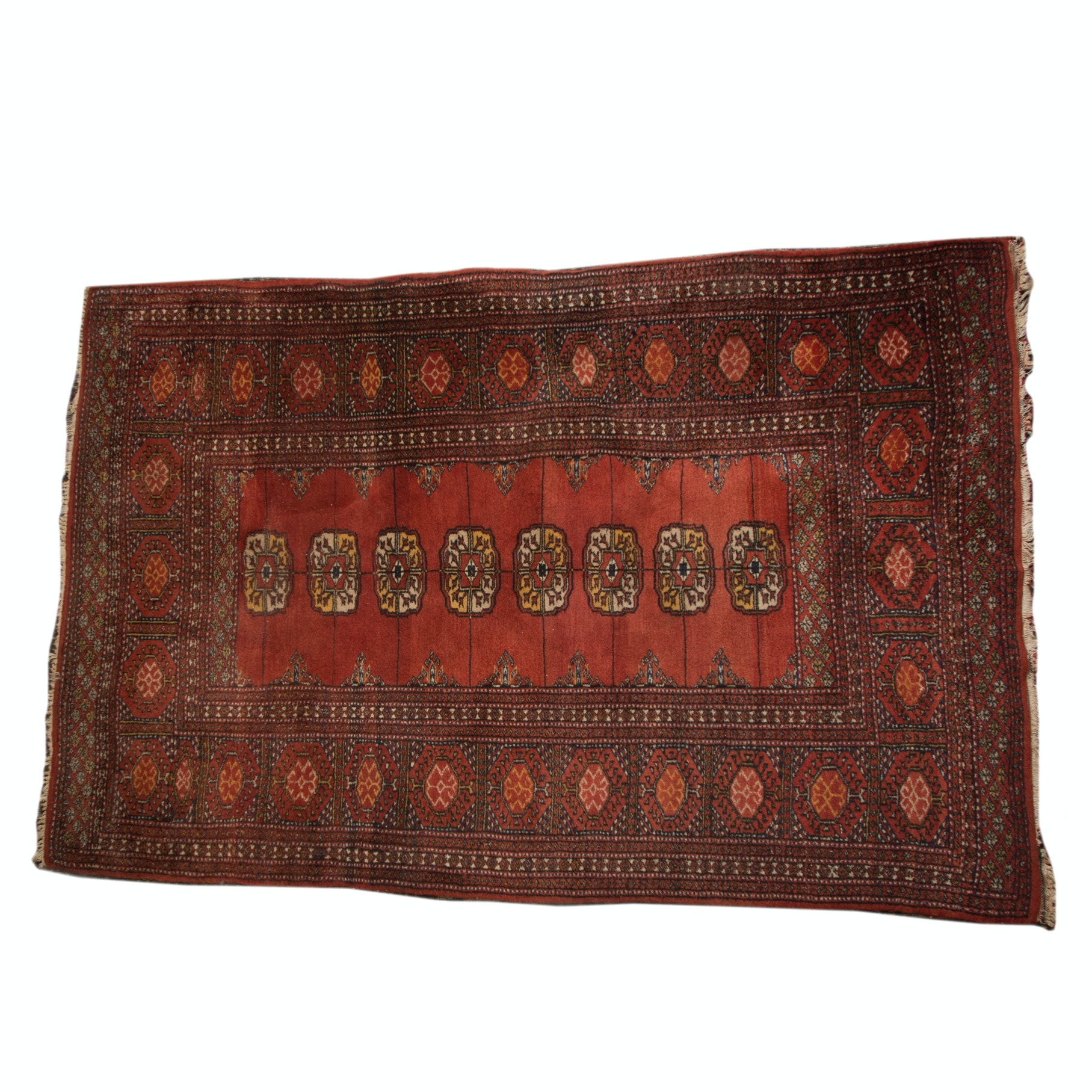 Vintage Hand Woven Bokhara Rug
