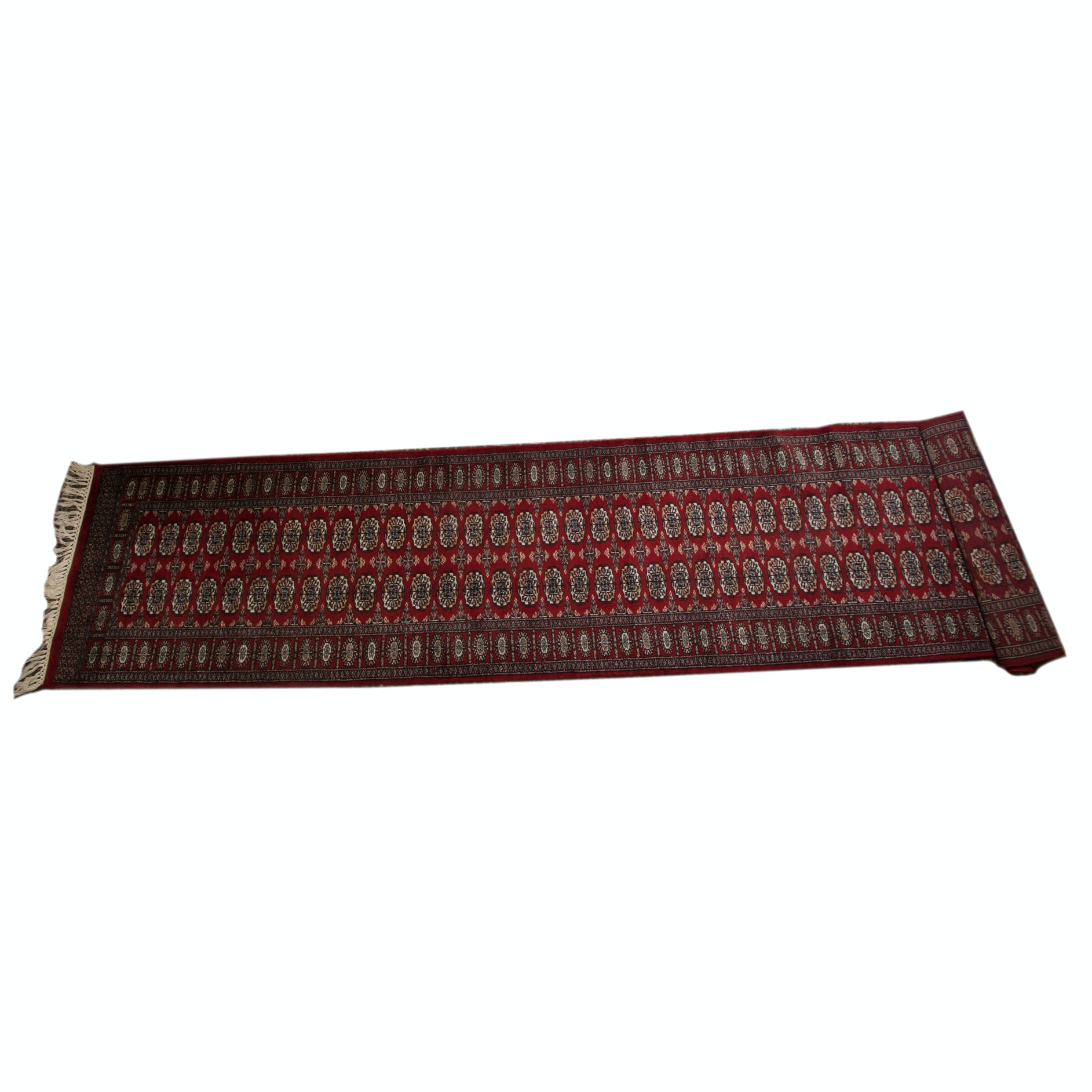 Hand-Knotted Pakistani Tekke Bokhara Carpet Runner