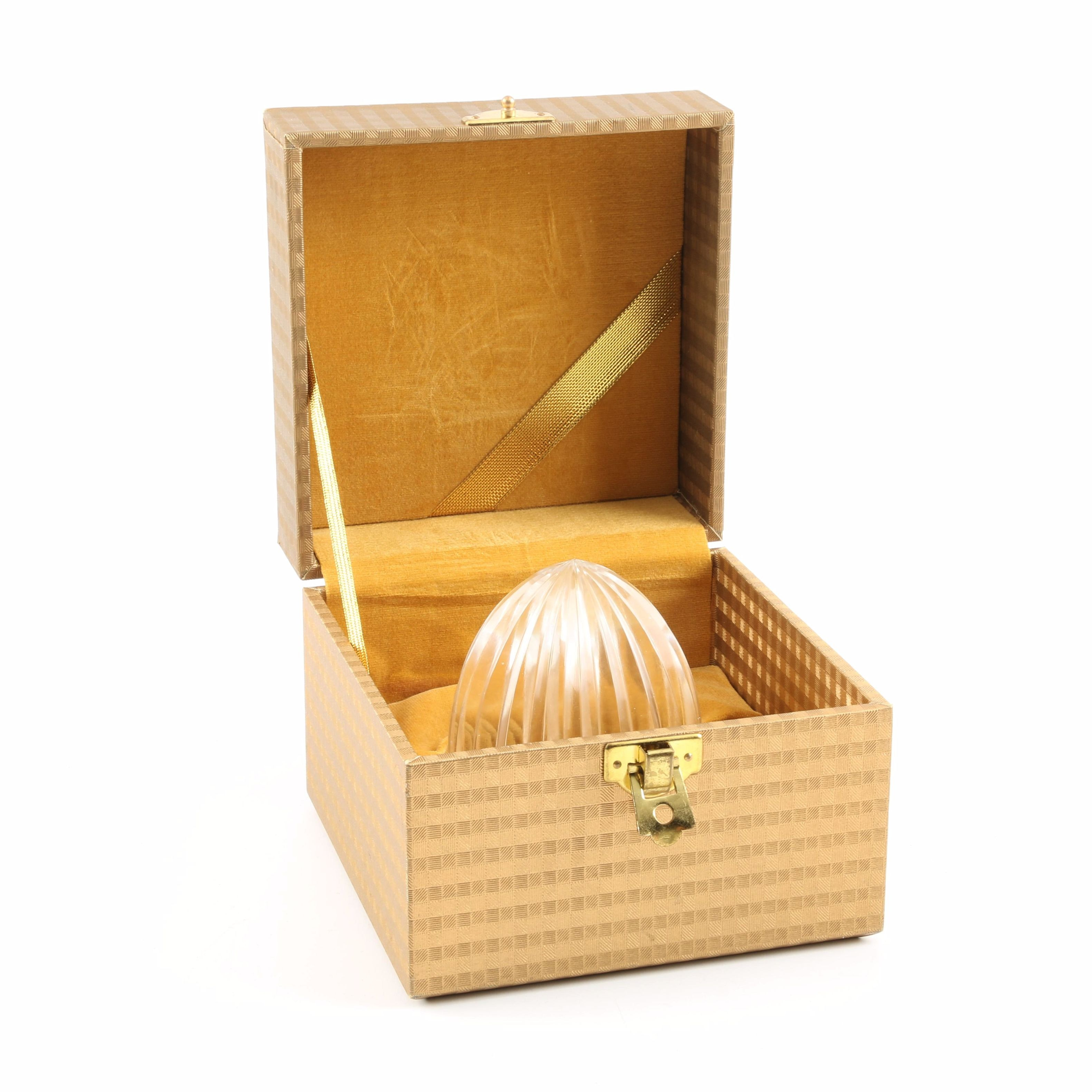 Crystal Paper Weight in Presentation Box