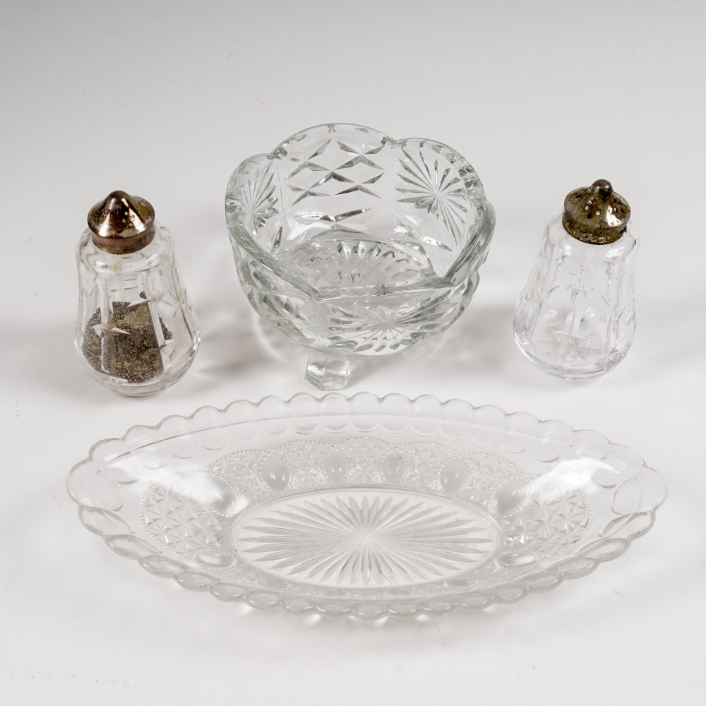 Cut Glass and Silver Plated Tableware