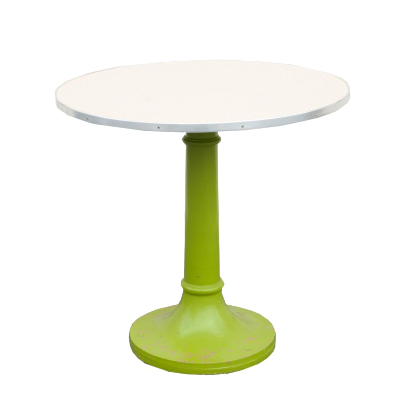 Round Green Metal Table